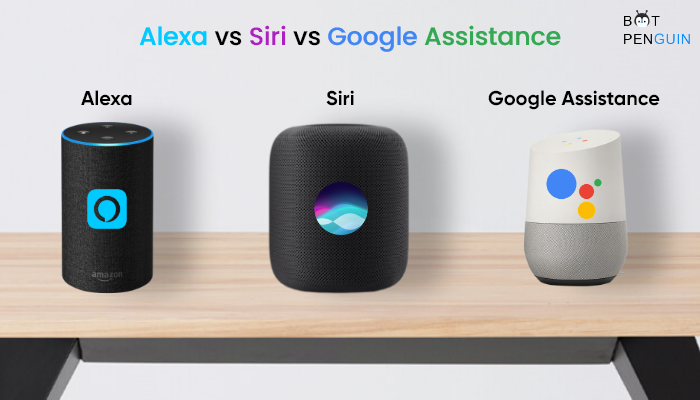 siri vs alexa vs google assistance
